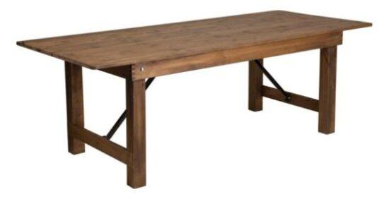 8_ x 40_ Farm Table