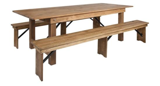 8_ x 40_ Farm Table (with two bench set)