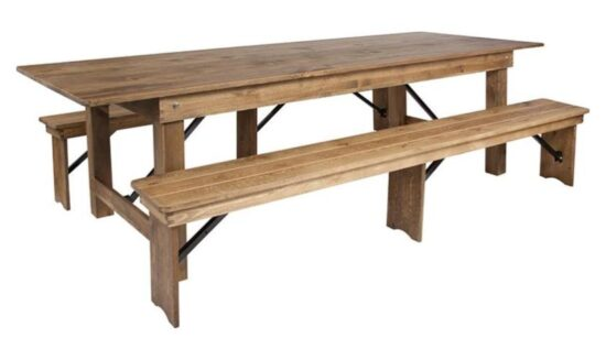 9_ x 40_ Farm Table (with two bench set)