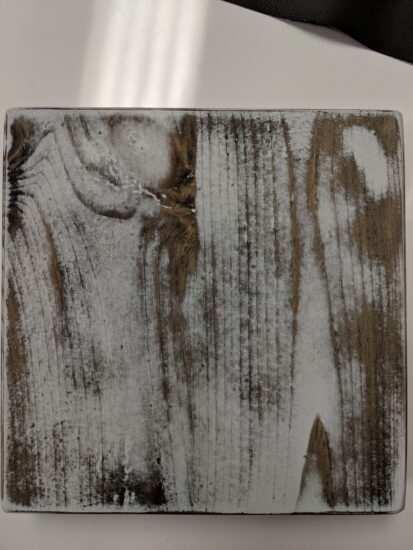 oak butcher block, colour-washed white