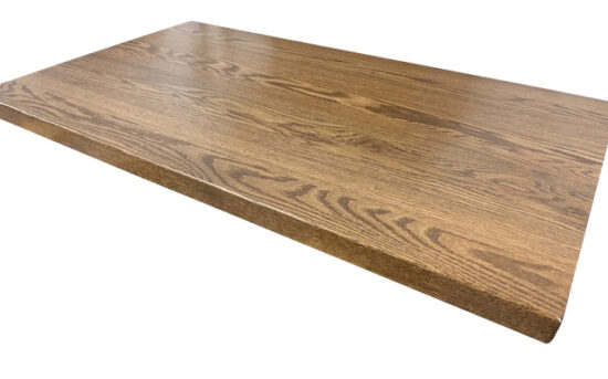 oak butcher block tabletop Clipped